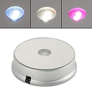LED Rotatable Display Base, Colorful Display Stand Turntable Crystal Display Base (1#)