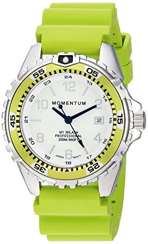 Momentum Unisex-Adult Analoog Klassiek Quartz Horloge met Rubber Band 1M-DN11LL1L
