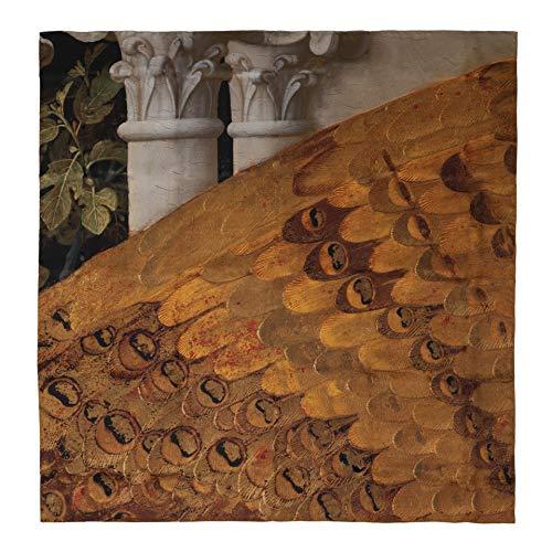 Pañuelo de seda 'La Anunciación-Fra Angelico' 120 x 120 cm