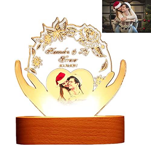 Custom 3D Photo Lamp Holding Love Picture Lamp Engraving Illusion Light Up Acrylic Light Night Light