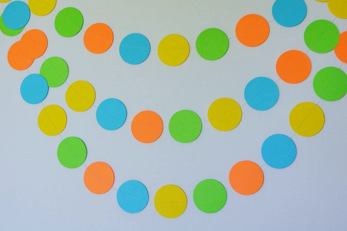 Low price Colorful Paper Garland High order Circle Dots Hanging Party Decor Decoratio