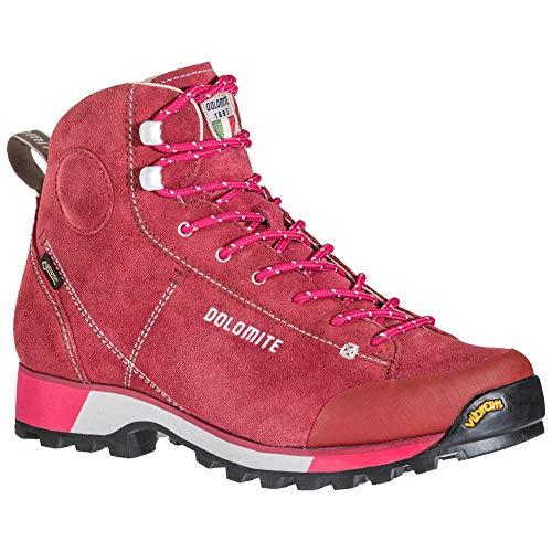 Dolomite Damen Bota ICON W GTX Cinquantaquattro Stiefel, Burgundy Red/Fuxia Pink