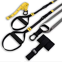 OUR LIGHTEST, MOST CONVENIENT TRAVEL TRAINER! TRX's GO Suspension Trainer Kit helps you create intense full-body workouts Anytime, Anywhere! Includes Suspension Training Strap, Indoor/Outdoor Anchors, 2 Workout Guides, Training Poster & Mesh Bag—Down...