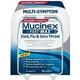 Mucinex Fast-Max Cold Flu Sore Throat - 20 Caplets (Pack of 3)