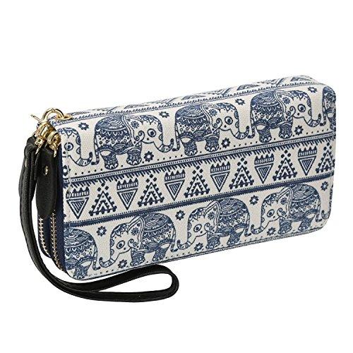 LATH.PIN Women's Wallet, Weiß Elefant (White) -...