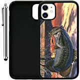 Custom Case Compatible with iPhone 11 (6.1') (Pro Fishing Bass Mouth) Edge-to-Edge Rubber Black Cover Ultra Slim | Lightweight | Includes Stylus Pen by Innosub