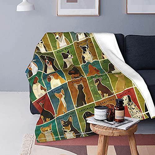 Manta de Franela con diseño de Perro Corgi Personalizado, Mantas Suaves de Estilo de Moda para la Escuela, Oficina, hogar, Manta de Lana