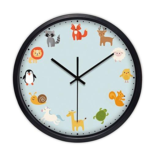 Color : Gold Horloges Murale en m/étal de Pomme de Diamant de Chambre /à Coucher de Chambre /à Coucher 25 Pouces