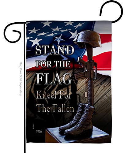 Service Stand for The Flag Garden Armed Forces All Branches Support Honor United State American Military Veteran Official Small Decorative Gift Yard House Banner Double-Sided Made in USA 13 X 18.5
