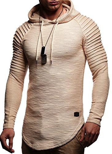 Leif Nelson Sudadera de Hombre con Capucha suéter de la Capilla LN-8128