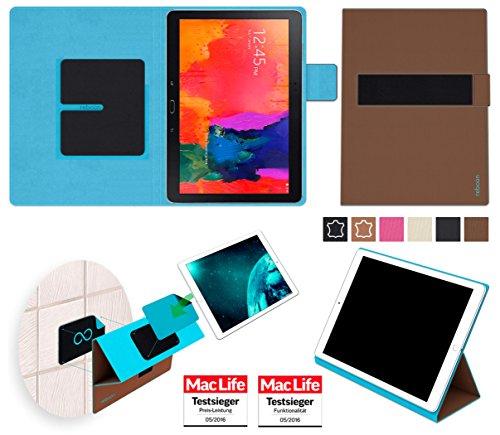 Hülle für Samsung Galaxy TabPro 10.1 Tasche Cover Hülle Bumper | in Braun | Testsieger