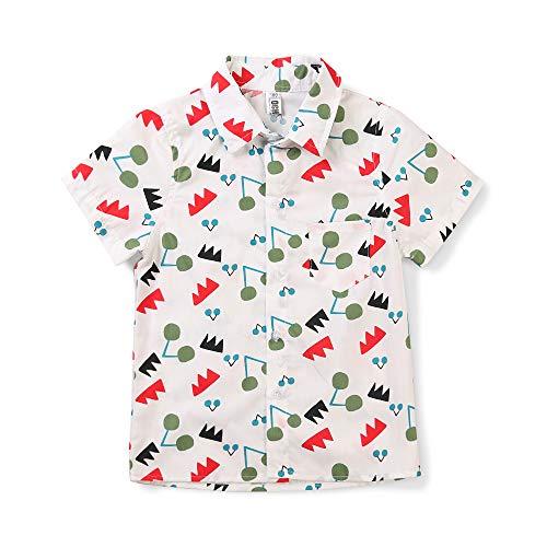 Phorecys - Camisa de manga corta para niño, diseño casual de algodón