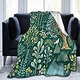Emerald Eden Mantas suaves y cómodas, ultra suaves, para cama o sofá, mantas para todas las estaciones de 150 x 100 cm