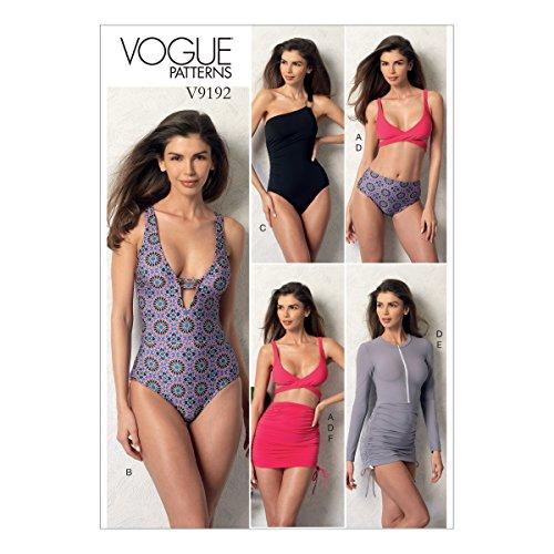 Vogue Patterns 9192A5–Cartamodello per Top e sotto Costume da Bagno Cover Up, Taglia 6–14