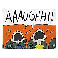 タペストリー壁掛け漫画アニメキャラクターパターン、サンディビーチスローラグブランケット、背景背景パーソナライズされたテーブルクロスA