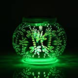3D Farbwechsel Glasmalerei Solar Tischlampe, kleine Globe Ball Nachtlicht für Outdoor-Möbel