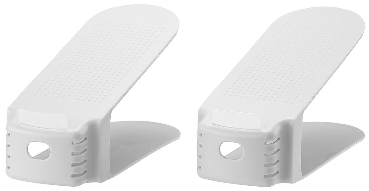 マカダム消費する蜂like-it 靴 ホルダー ワイド 2個入 ホワイト 幅10x奥26x高13.5cm SHW-01