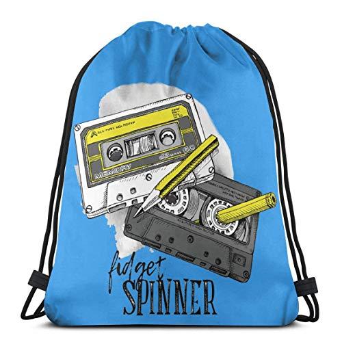 Fidget Spinner Drawstring Backpack Sac à Dos Sacs à bandoulière Sac de Sport