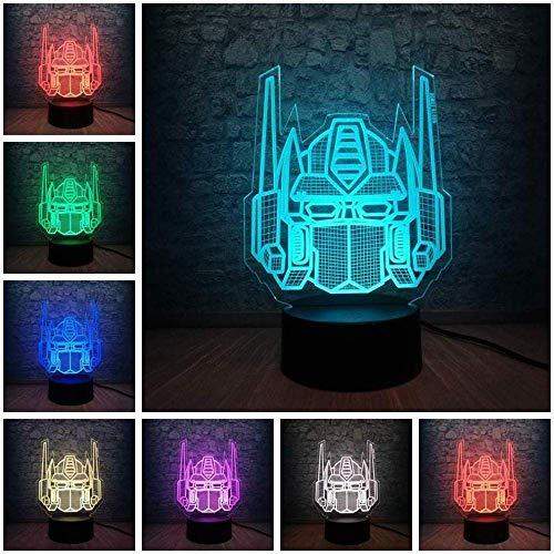 Luz nocturna 3D presentacin de diapositivas lmpara USB de dibujos animados mscara decoracin 7 colores cambio nio juguete decoracin regalo