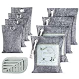 Anakz Activated Bamboo Charcoal Air Purifying Bags (9 Pack) | Nature Fresh Air Purifier Bag | Odor Absorber for Home, Car and Office | Refrigerator Deodorizers - Kid & Pet Friendly | Shoe Freshener