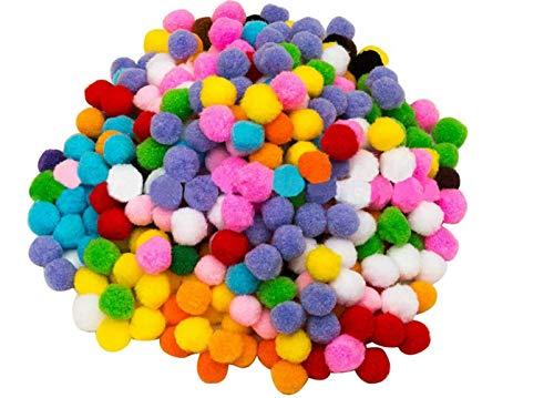 UPSTORE 500 pompones multicolor de 2,5 cm, pompones para manualidades, manualidades, manualidades, manualidades, manualidades, manualidades, decoración