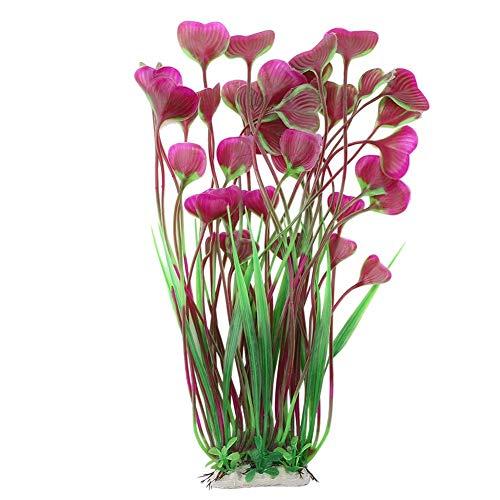 Minnya Aquarium Künstliche Pflanzen Aquarium Unterwasserpflanzen Dekoration Aquatische dekorative Blumen Pflanzen für Aquarium Unterwasser Dekoration