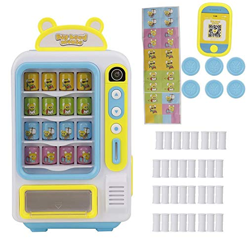 Juguete de máquina expendedora para niños, simule una máquina expendedora de bebidas de pantalla grande Moneda o juguete de pago móvil para niños(Blue)