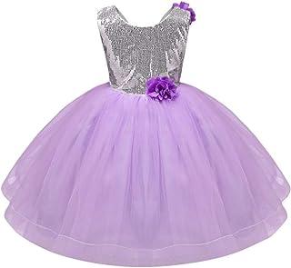67eb32ecbbc Children Kids Girls Sleeveless Sequin Flower Wedding Party Princess Dress