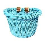 Colorbasket Junior Front Handlebar Wicker Bike Basket - Blue