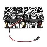 SALUTUY Calentador de inducción ZVS, módulo de Calentamiento de inducción de Potencia de bajo Voltaje Controlador de Retorno ZVS Calentador de inducción de 2500 W Radiador Grande para Templado y