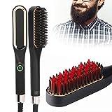 Alisador de barba para hombres, peine para alisar el cabello, peine para alisar la barba cepillo para alisar la barb herramienta para peinar el cabello alisador de cabello eléctrico caliente(1#)