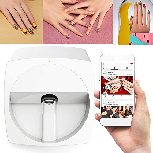 Echte 3D Nail printers, draagbare digitale nagel printer, Automatic Mobile Wireless Transfer Digital All-intelligent Nail Printers WiFi/DIY / (wit)