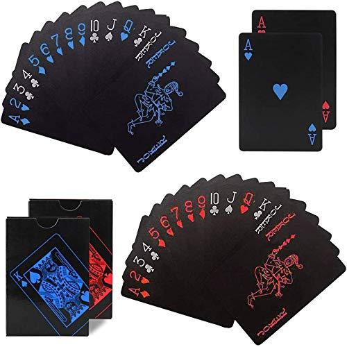 Cartas Cartas De Póquer De Plástico Cartas De Póquer En Plástico Cartas De Póquer Texas Holdem Ideal para La Herramienta De Habilidad Classic Magic Poker, Utilizado para Juegos De Fiesta 2 Piezas