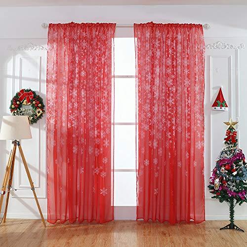 BBestseller 1 Piezas Sombra Cortina de Copo de Nieve Visillo para Vent