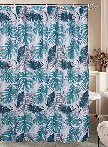 Caribbean Joe Kona Shower Curtain One Size White/Blue