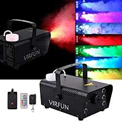 professional VIRFUN Portable, an improved Halloween fog machine with 6 RGB LEDs and a 500 ml tank …