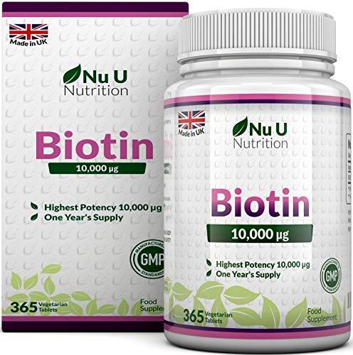 Biotina 10.000 MCG | 365 Comprimidos (Suministro Anual) | Complemento...