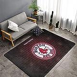 Boston Red Sox Rug Super Soft Non-Slip Fine Fluff Rugs...