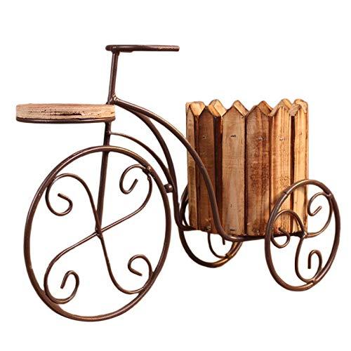 Baoblaze Creativo jardín Maceta de Hierro Europeo Bicicleta florero Estante Titular de la Planta...