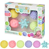 NLDM Baby Soft Ball, Hand Ball bébé Souple Multi-Texture Toy 3-6-12 Mois bébé à Crawl Puzzle sensorielle Massage Tactile