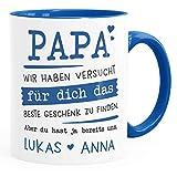 SpecialMe® Tasse personalisiertes Geschenk Spruch Papa/Mama Wir habe versucht für dich das beste...