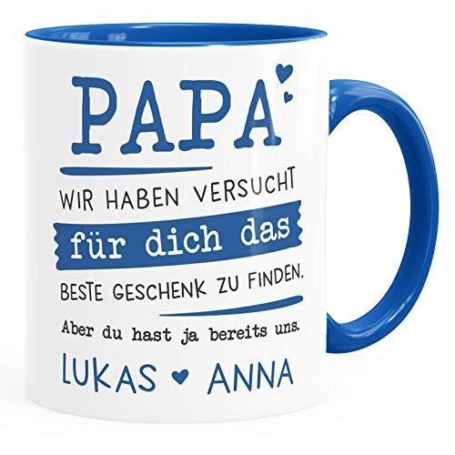 SpecialMe® Tasse personalisiertes Geschenk Spruch Papa/Mama Wir habe versucht für dich das beste Geschenk zu finden. anpassbare Namen Papa 2 inner-royal Keramik-Tasse