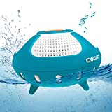 IPX7 Floating Bluetooth Speaker, Cowin Smile Waterproof Bluetooth Speakers Portable Wireless Shower Speaker with 12W Deep Bass and Colorful LED Light for Swimming Pool Party Travel Home