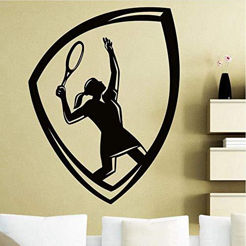 Muursticker Tennis Sticker Auto Raam Sport Sticker Muurstickers Naam Posters Vinyl Muurstickers Decor Mural Tennis Sticker 58X75Cm