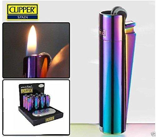 PONZE Clipper Metalen aansteker Met Gratis Graveren Gepersonaliseerde Gift Box + Icy Zilver Goud