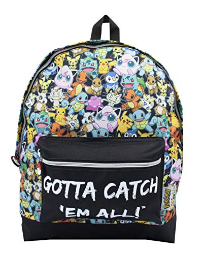 Pokemon GOTTA CATCH 'EM ALL Ufficiale Zaino Cartella Cinturini Regolabili