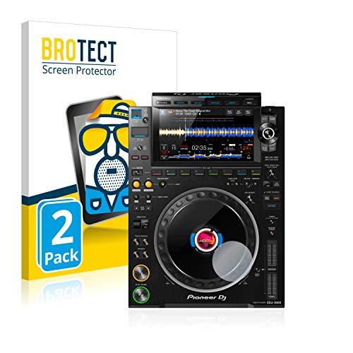BROTECT 2X Entspiegelungs-Schutzfolie kompatibel mit Pioneer CDJ 3000 (Kreis) Bildschirmschutz-Folie Matt, Anti-Reflex, Anti-Fingerprint