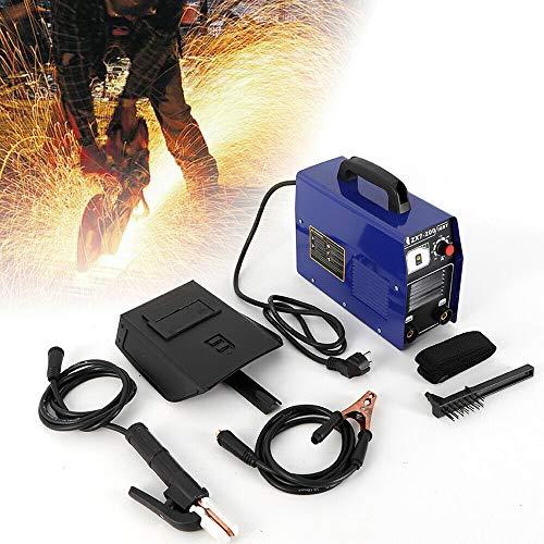 Mini Inverter Schweißgerät YUNRUX Handheld Elektrodenschweißgerät mit Schweißhelm IGBT Profi Elektroden Schweißmaschine Schweißinverter 120A Zubehör 50/60 Hz