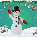 屋内アウトドアホーム庭の芝生の庭の装飾のためのインフレータブルクリスマス雪だるまホールドAキャンディケーンデコレーションインフレータブル