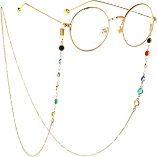 Eyeglass Chain, Sunglasses Eyewear Strap Holder, Eyewear Neck Cords Lanyards, Reading Glasses Retainer for Women